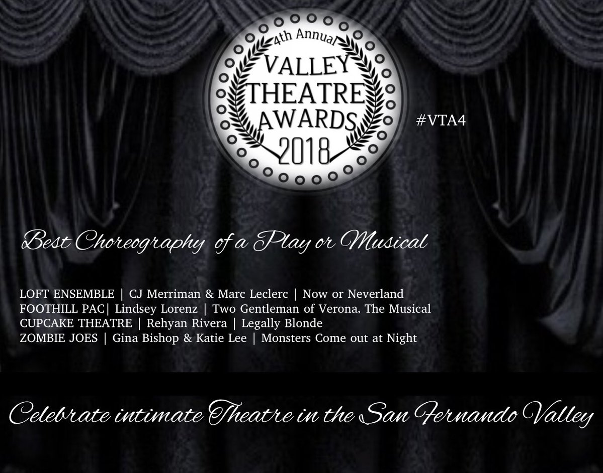 Valley Theatre Awards - Zombie Joes nominated 5 times!